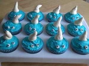Smurf cupcakes