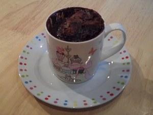Cake in a mug